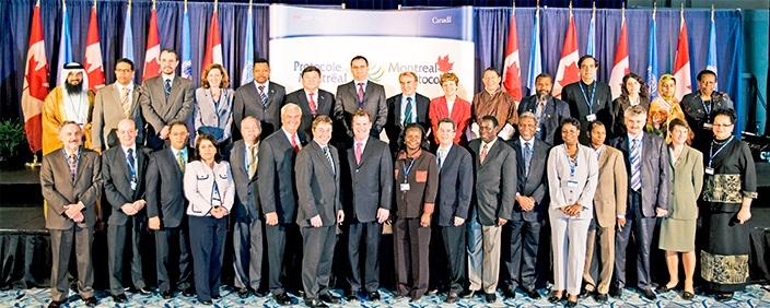 Представители стран, подписавших Монреальский протокол