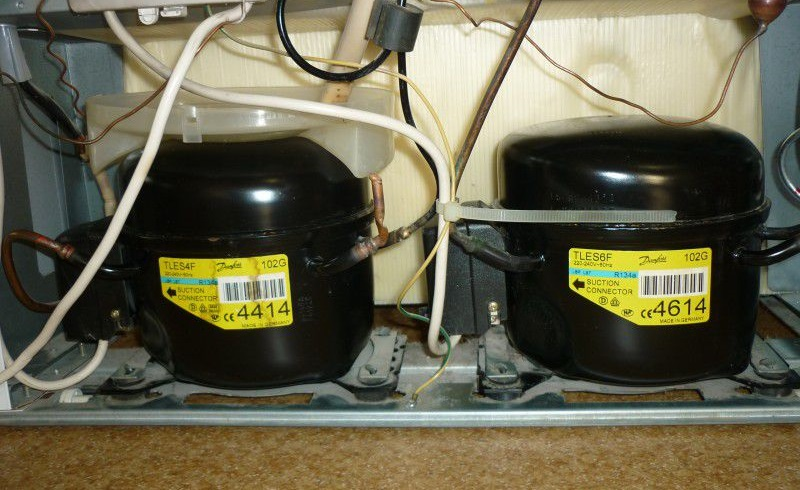Два компрессора в холодильнике