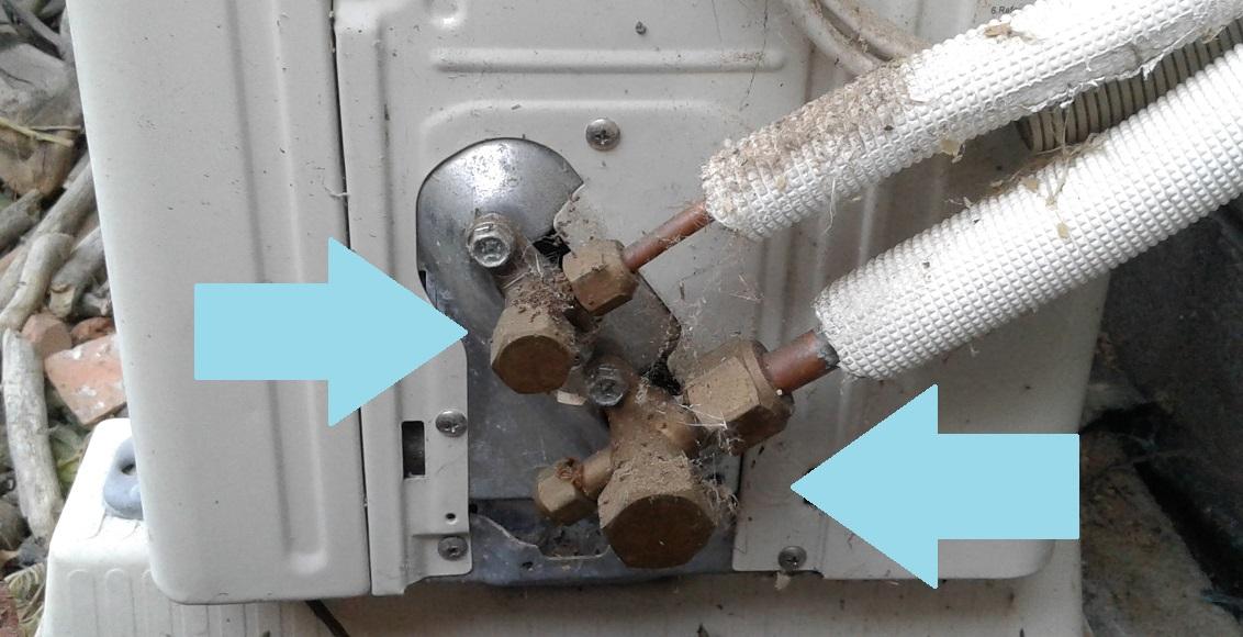 Сервисные вентили кондиционера