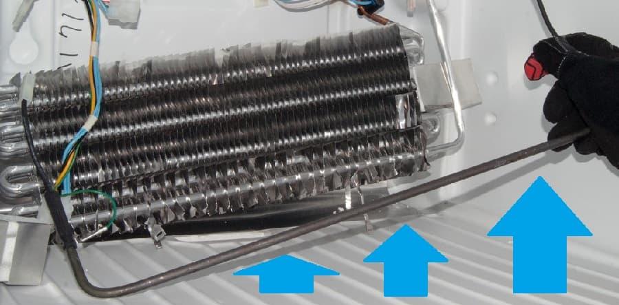 Трубчатый электронагреватель (ТЭН) в морозильной камере холодильника